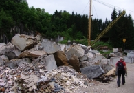 Kamniti bloki iz kamnoloma