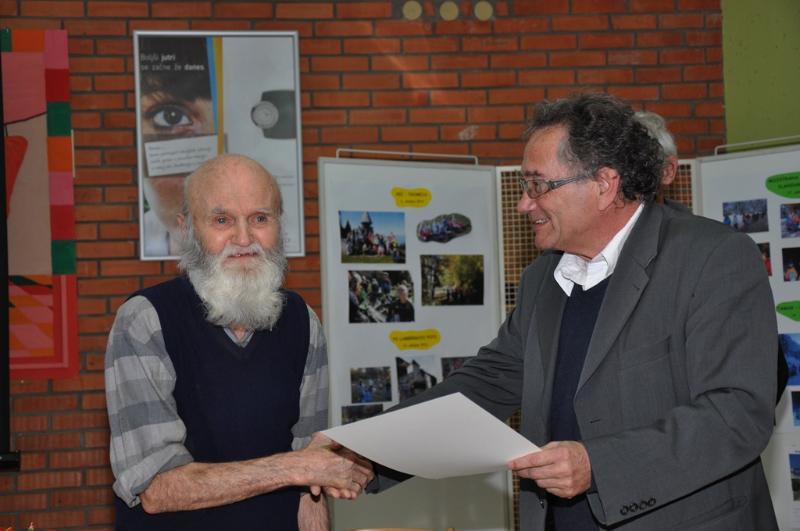 Starosta društva - aprila bo dopolnil 89 let.