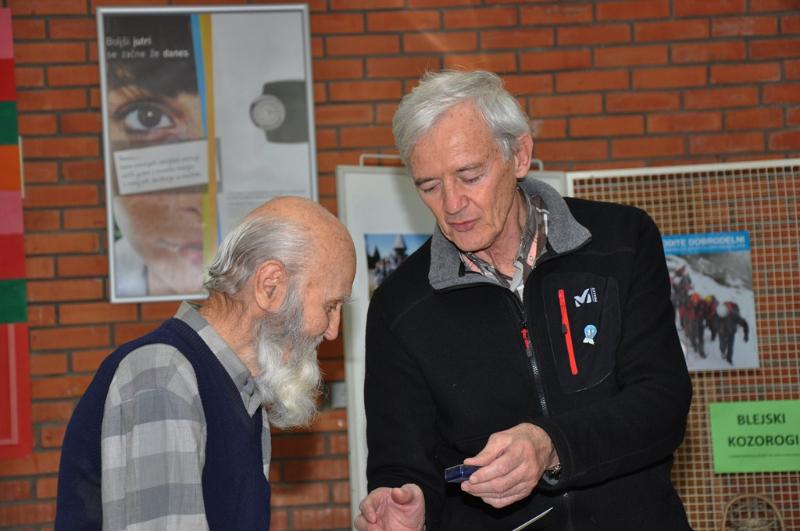 Henrik in predsednik MDO Gorenjske France Benedik.