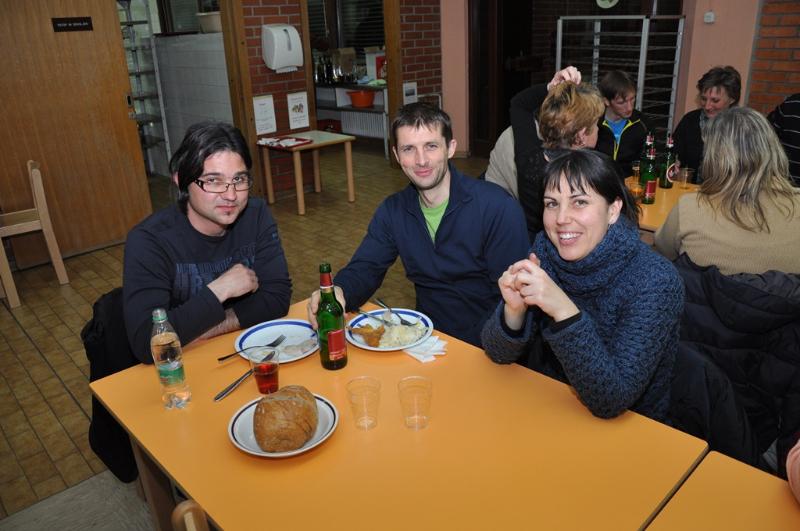 Marko, Mitja in Sara.